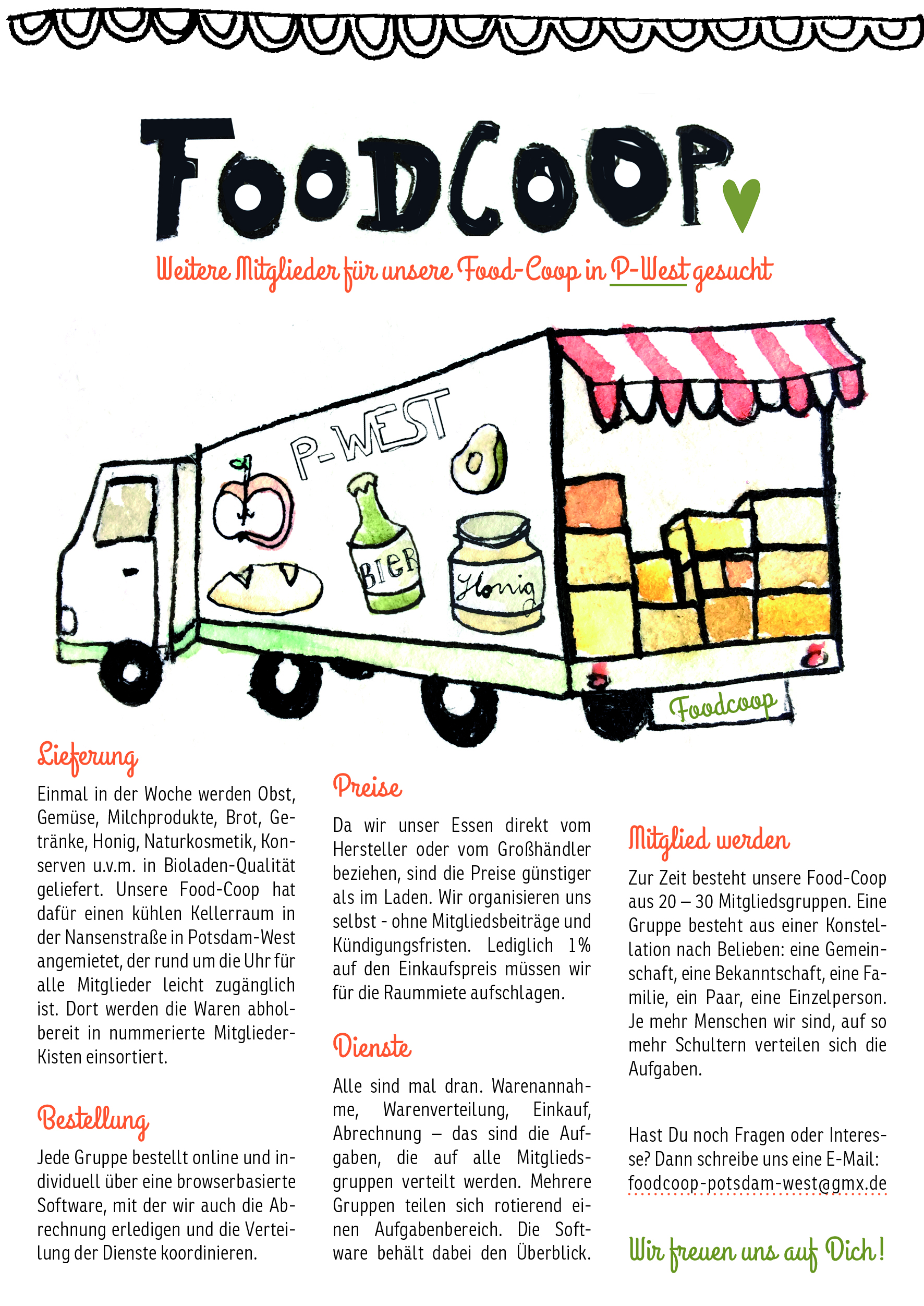 Flyer FoodCoop Potsdam West